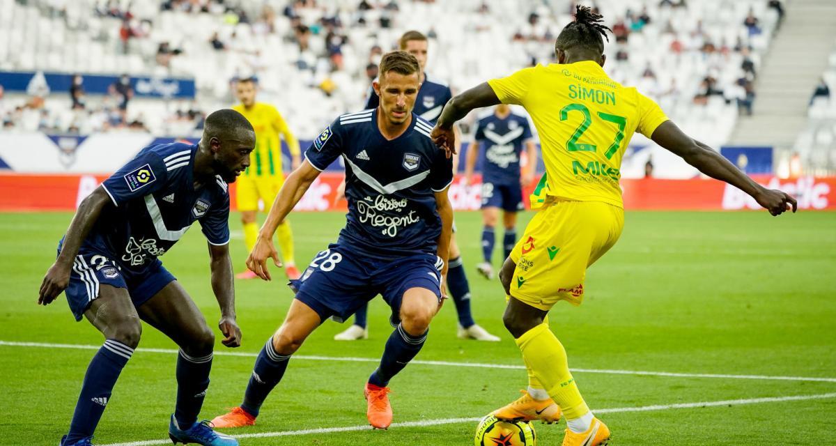 Résultat Ligue 1 : le FC Nantes n'a pas réussi à percer le verrou des Girondins (0-0)