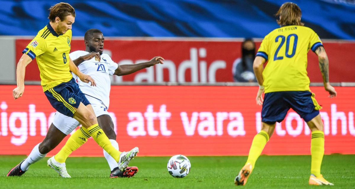 Résultat Ligue des Nations: Suède 0-1 France (mi-temps)
