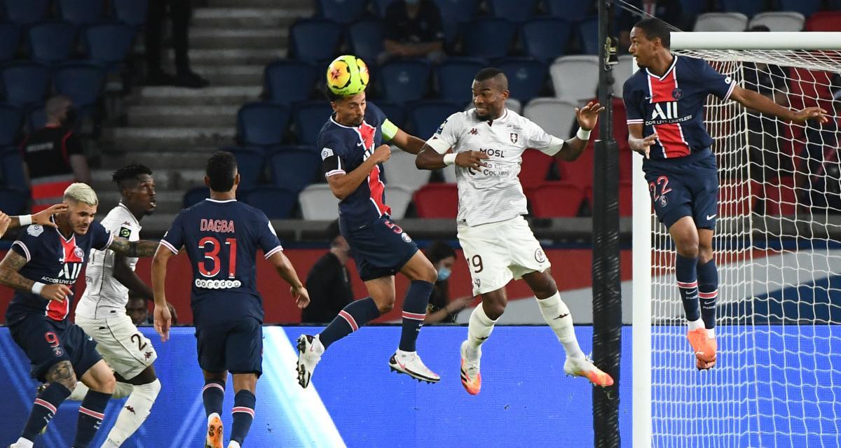 Résultat L1 : le FC Metz frustre le PSG (mi-temps)