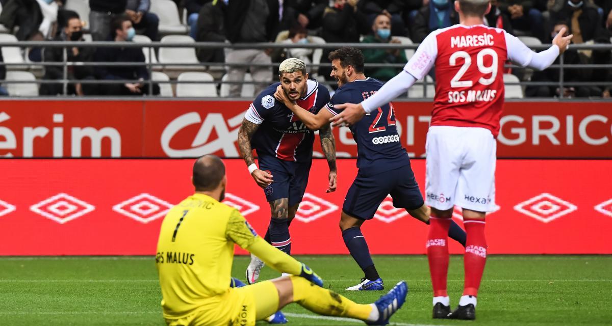 Résultat Ligue 1 : Stade de Reims 0-1 PSG (mi-temps)