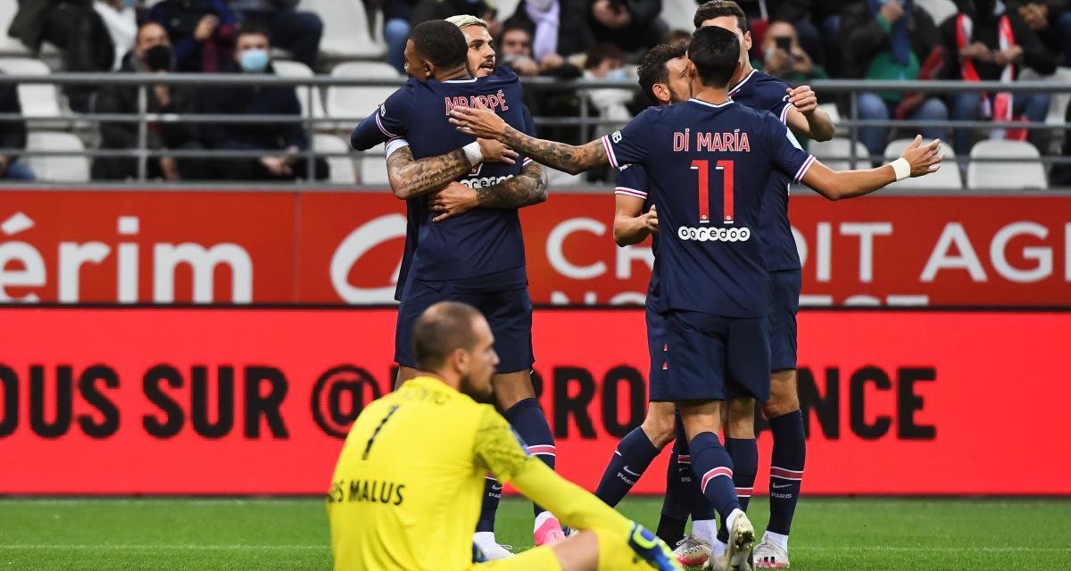 Résultat Ligue 1: le PSG enchaîne un troisième succès à Reims (2-0)