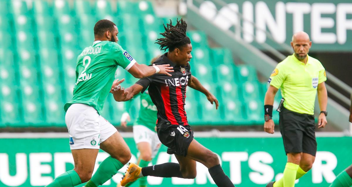 Résultat Ligue 1 : l'ASSE plombée par sa première période face à Nice (1-3)