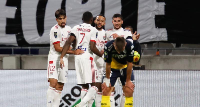 Résultats Ligue 1 : très efficace, l'OL profite des largesses défensives de l'AS Monaco (mi-temps : 4-0)