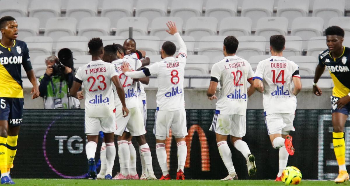 Résultat Ligue 1 : l'OL gifle l'AS Monaco (4-1)