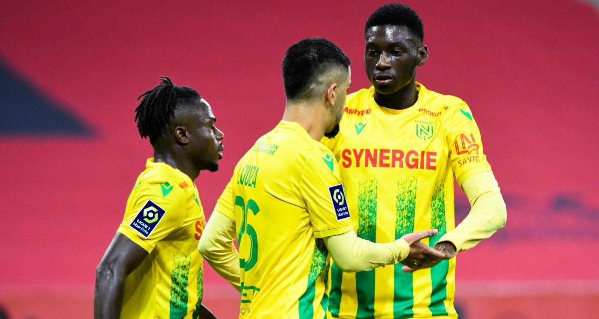 Résultat Ligue 1: FC Nantes 0-0 PSG (mi-temps)