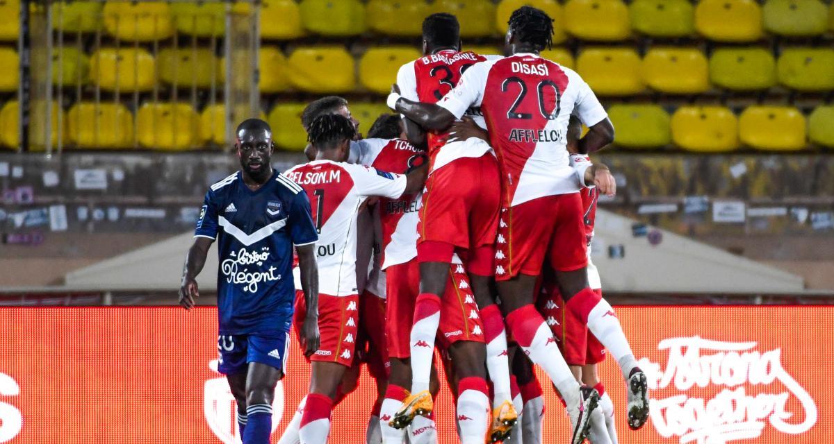Résultat Ligue 1 : les Girondins sombrent face à l'AS Monaco (4-0)