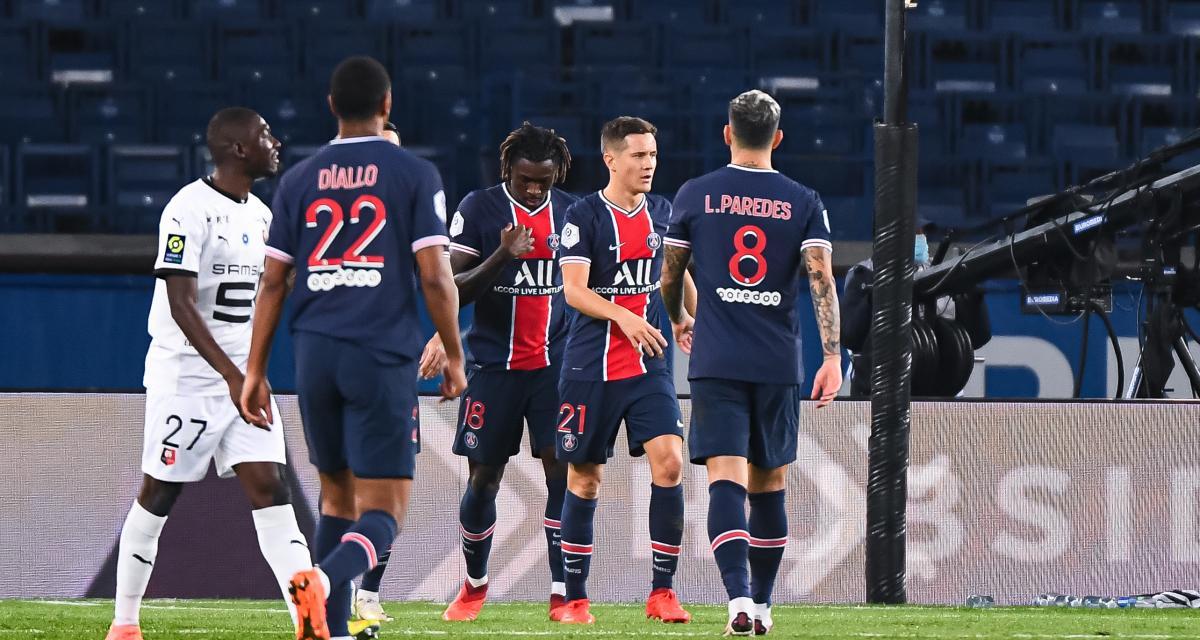 Résultat Ligue 1 : PSG 2-0 Stade Rennais (mi-temps)