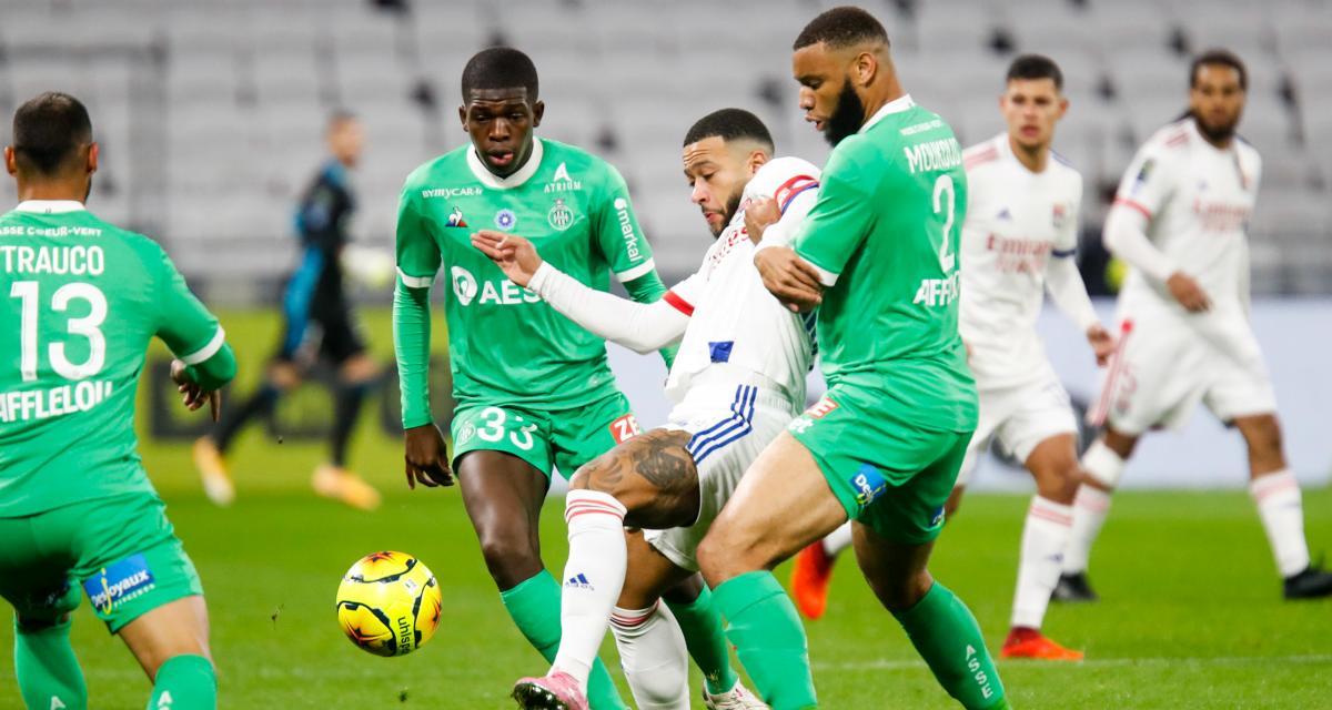 Résultat Ligue 1 : l'ASSE est devant l'OL à la pause (1-0)