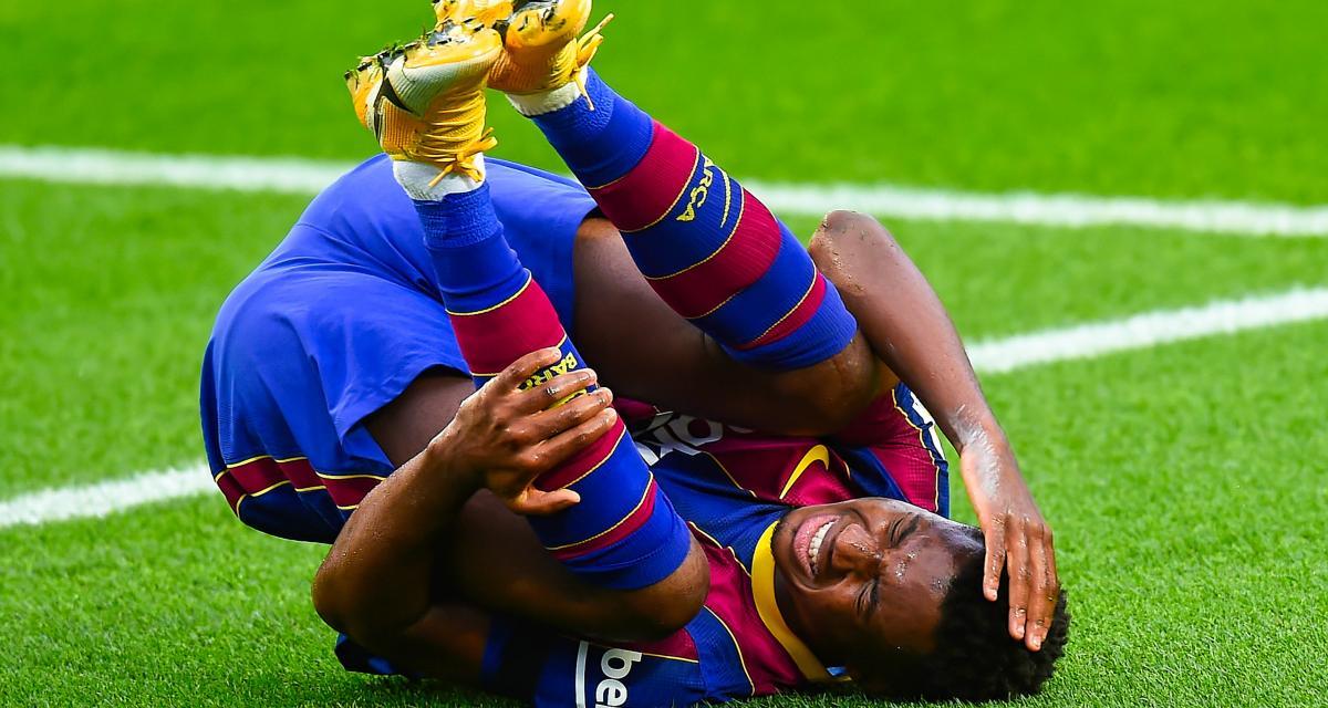 FC Barcelone : Fati, indisponibilité confirmée (officiel)