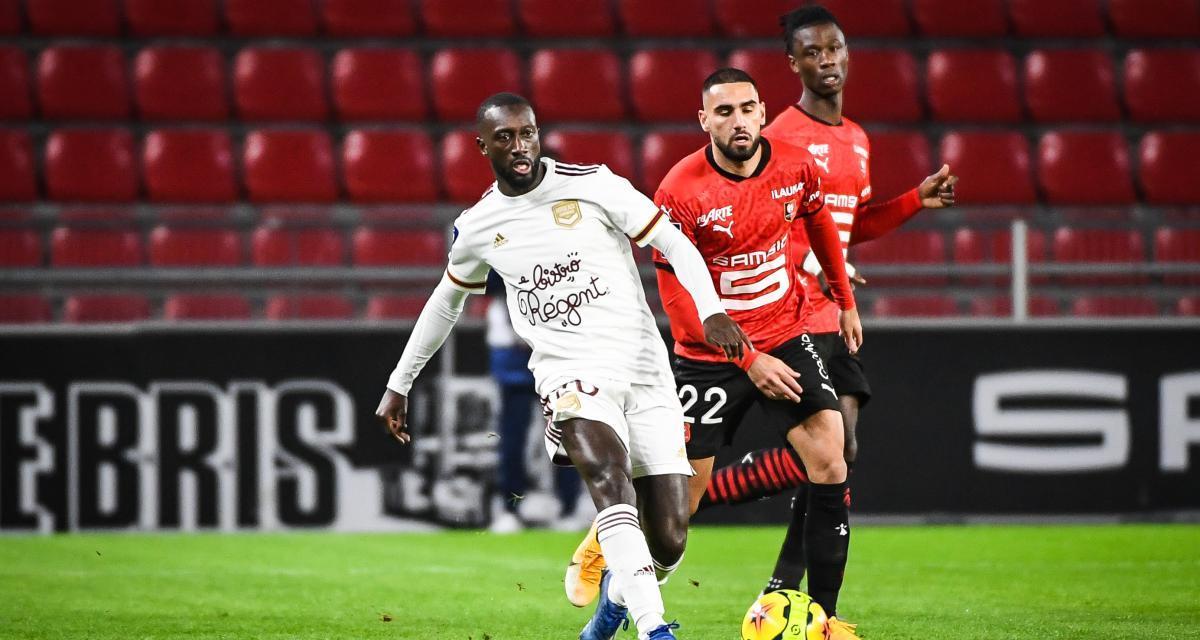 Résultat Ligue 1: Stade Rennais 0-1 Girondins de Bordeaux (mi-temps)