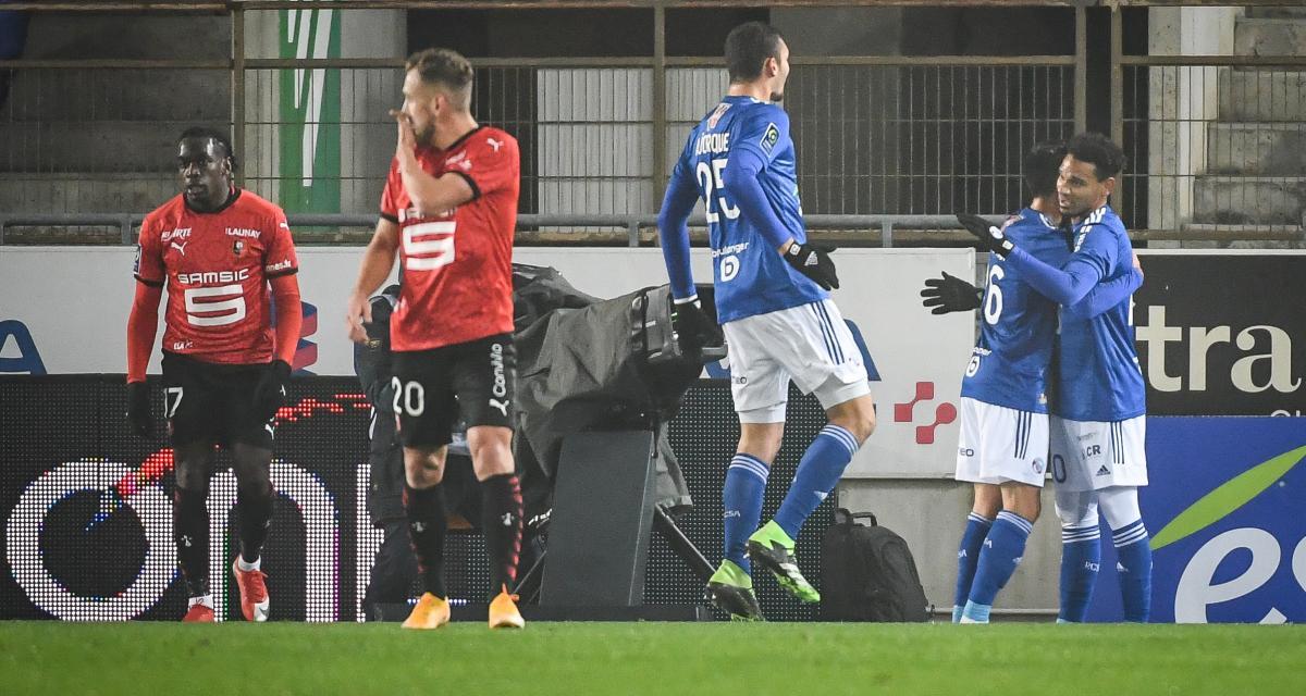 Résultat Ligue 1: RC Strasbourg 1-0 Stade Rennais (mi-temps)