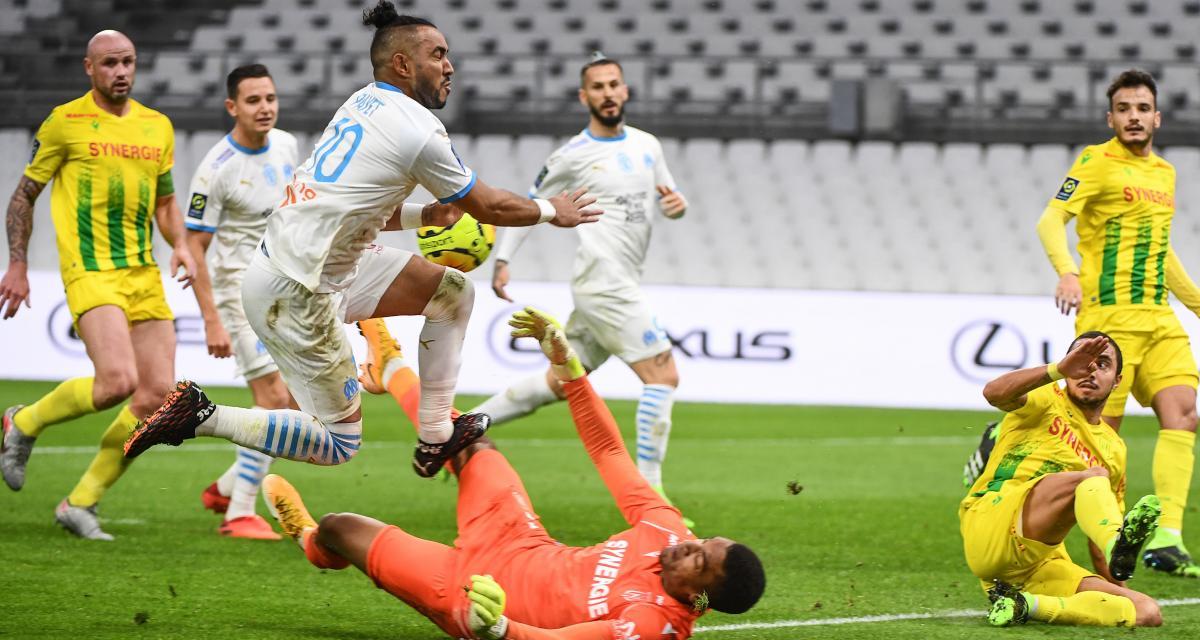 Résultat Ligue 1 : OM 2 - 0 FC Nantes (mi-temps)