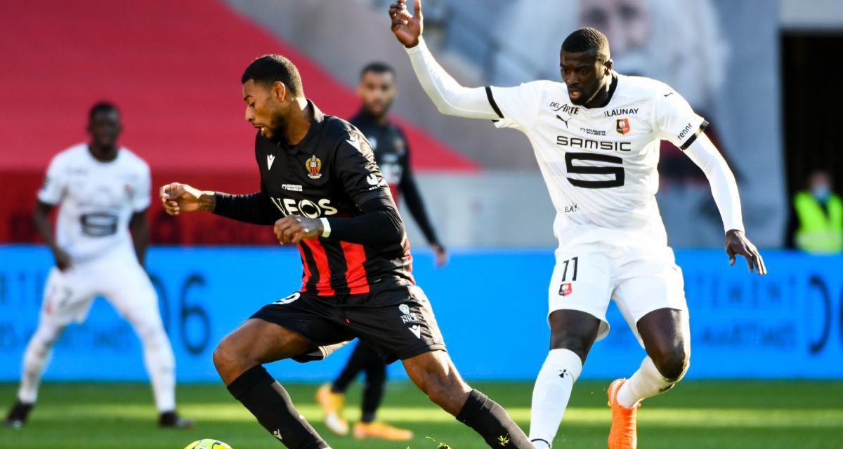 Résultat Ligue 1 : OGC Nice 0 - 1 Stade Rennais (mi-temps)