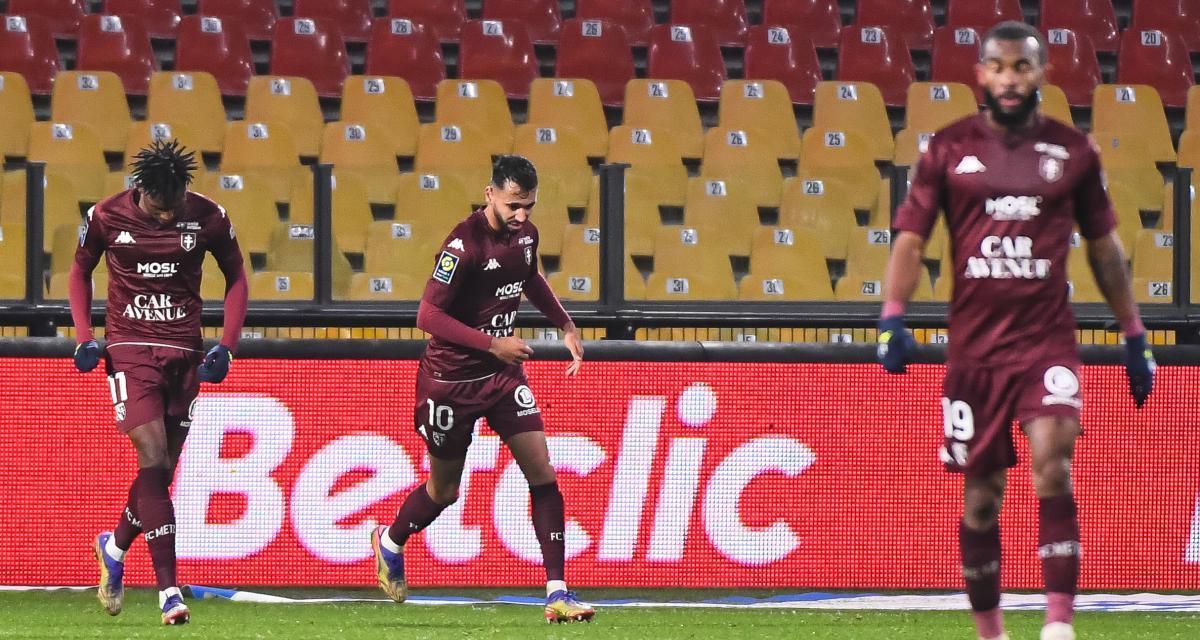 Résultat Ligue 1: Metz 1-0 Lens (les Sang et Or à la peine, mi-temps)