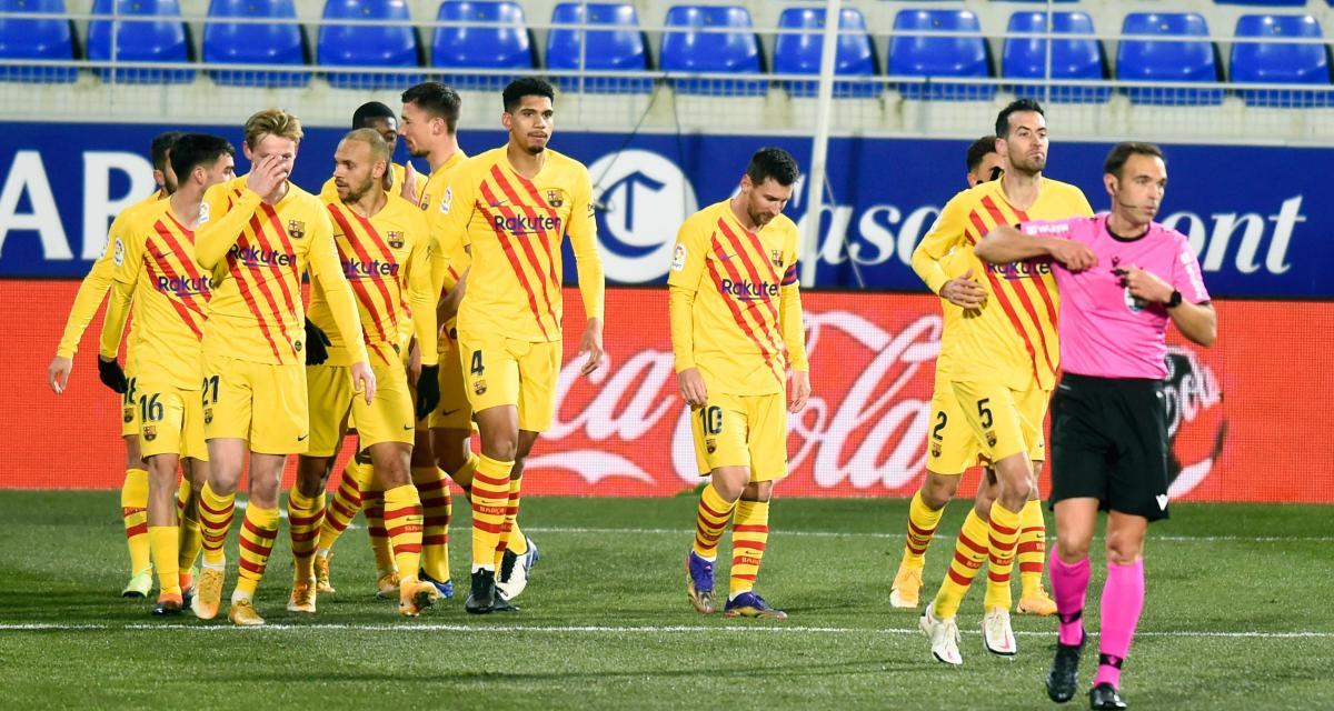 Résultat Liga : pour la 500e de Messi en championnat, le FC Barcelone assure l'essentiel à Huesca (1-0, terminé)