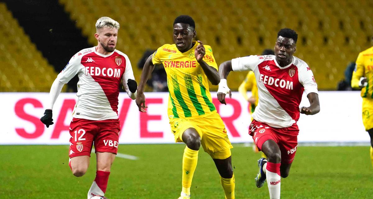 Résultat Ligue 1 : le FC Nantes crucifié par Monaco juste avant la pause (0-1, mi-temps)