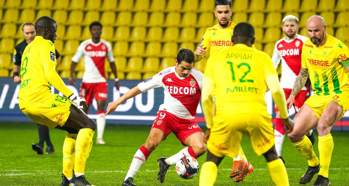 Résultat Ligue 1 : le FC Nantes s'incline de nouveau face à l'AS Monaco (1-2)