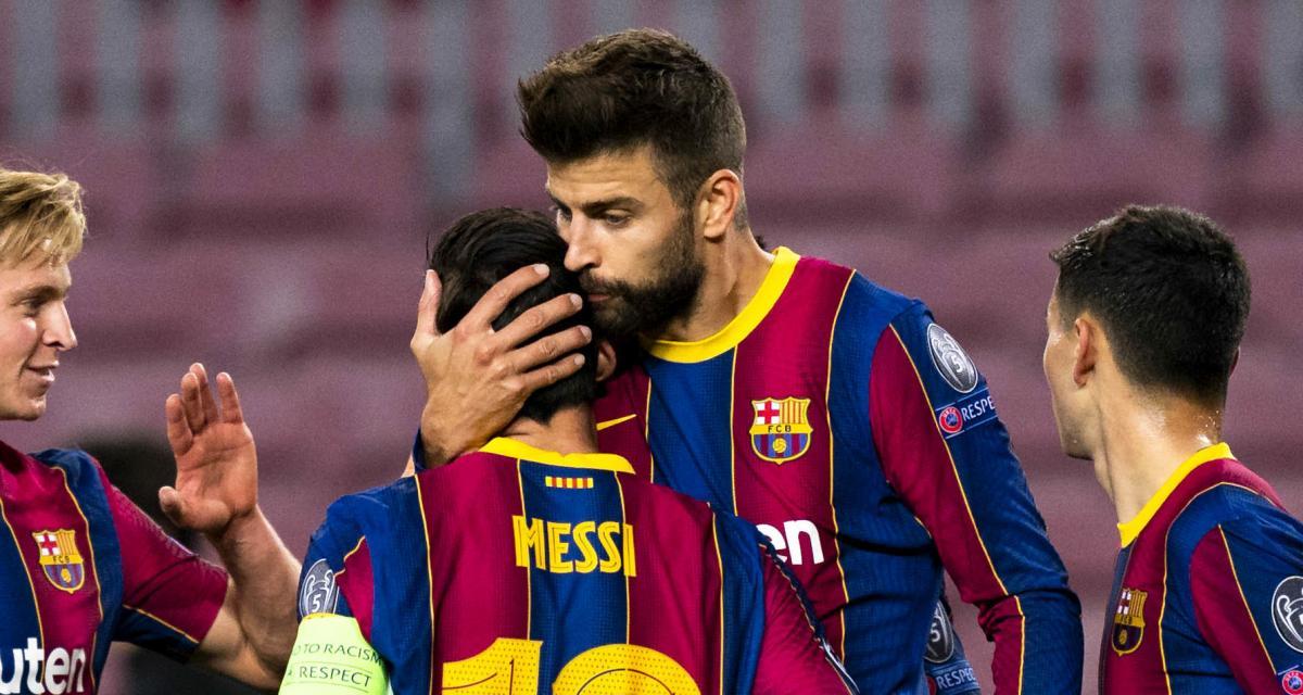 FC Barcelone : Messi et Piqué chambrent une légende du Real Madrid