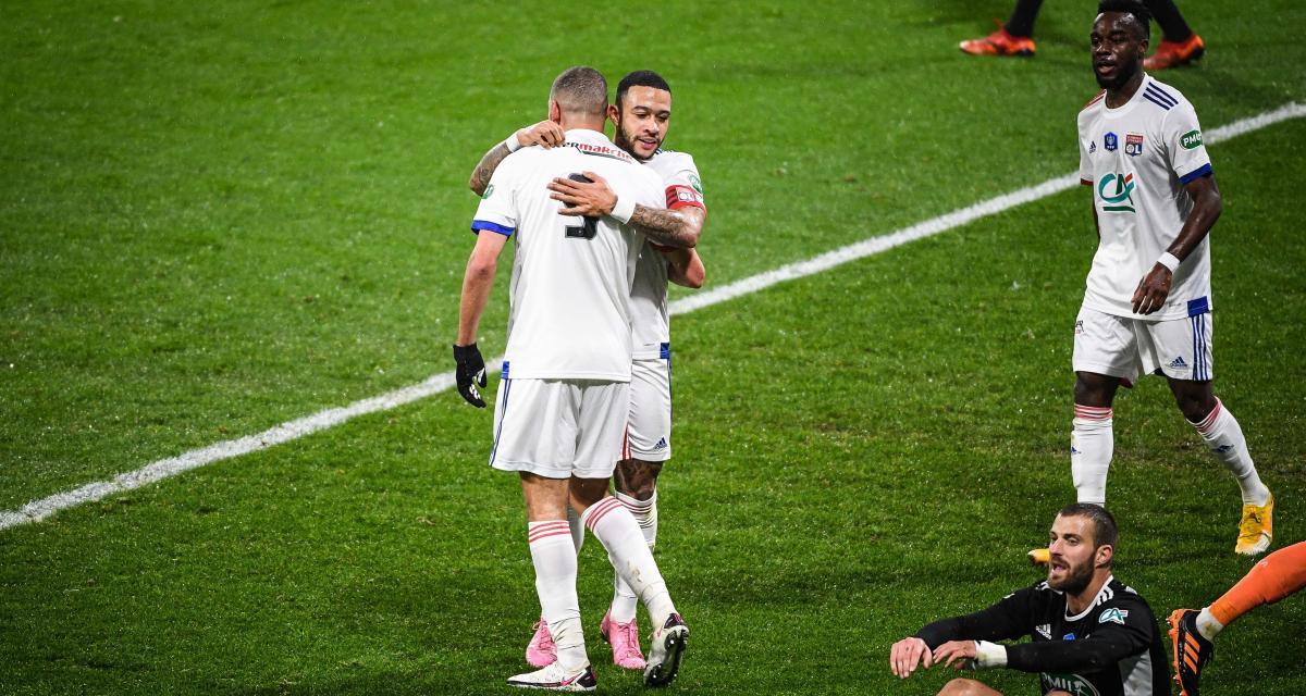 Résultat Coupe de France : OL 4-0 AC Ajaccio (mi-temps)