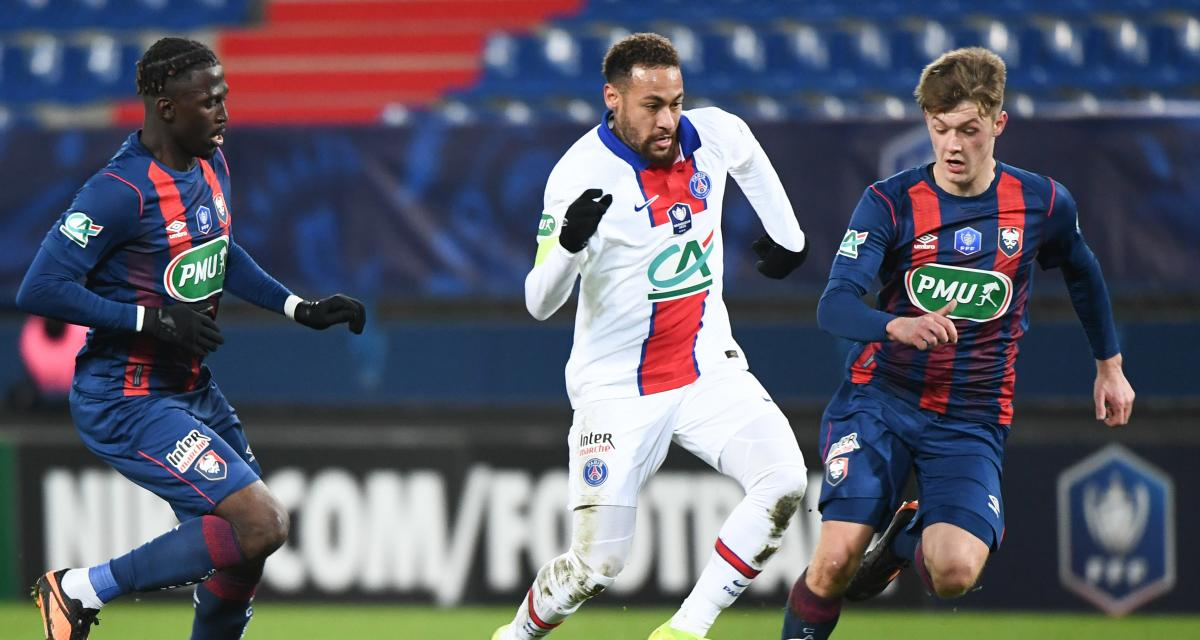 Résultat Coupe de France : SM Caen 0-0 PSG (mi-temps)