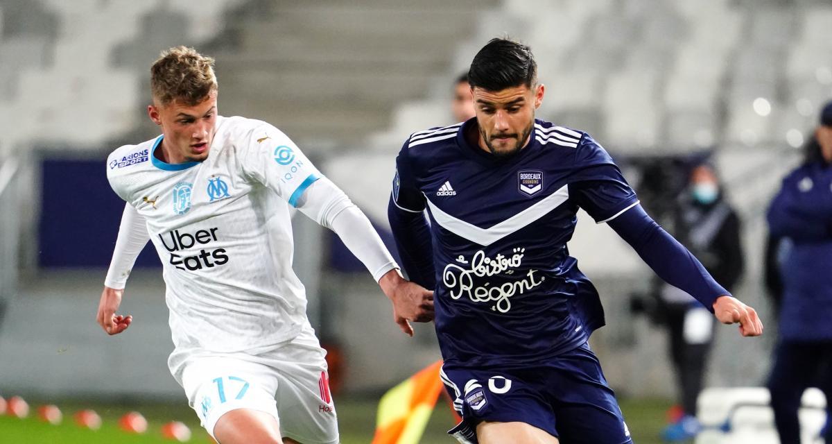 Résultat Ligue 1 : Girondins de Bordeaux 0-0 OM (mi-temps)