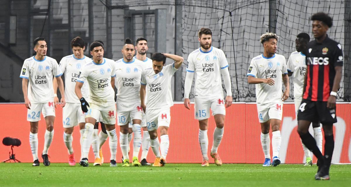 Résultat Ligue 1 : OM 2-0 OGC Nice (mi-temps)