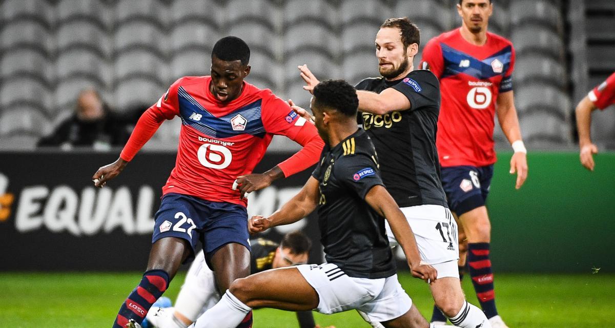 Résultat Ligue Europa : le LOSC souffre mais tient face à l'Ajax (0-0, mi-temps)