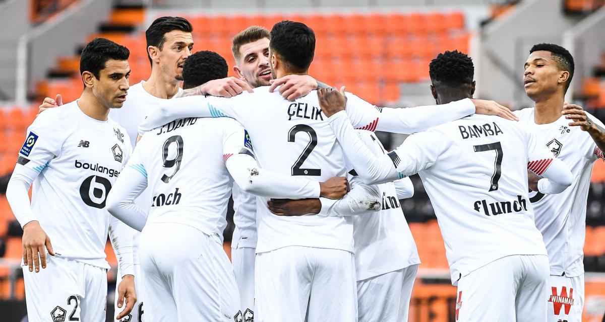 Résultat Ligue 1: Lorient FC 1 – 2 LOSC (mi-temps)