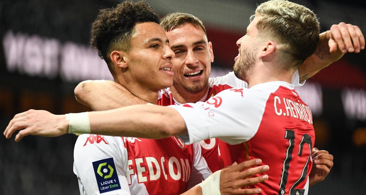 Résultat Ligue 1 : PSG 0 - 1 AS Monaco (mi-temps)