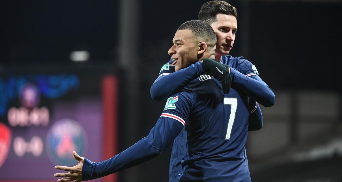 Résultat Coupe de France: Stade Brestois 0-2 PSG (mi-temps)