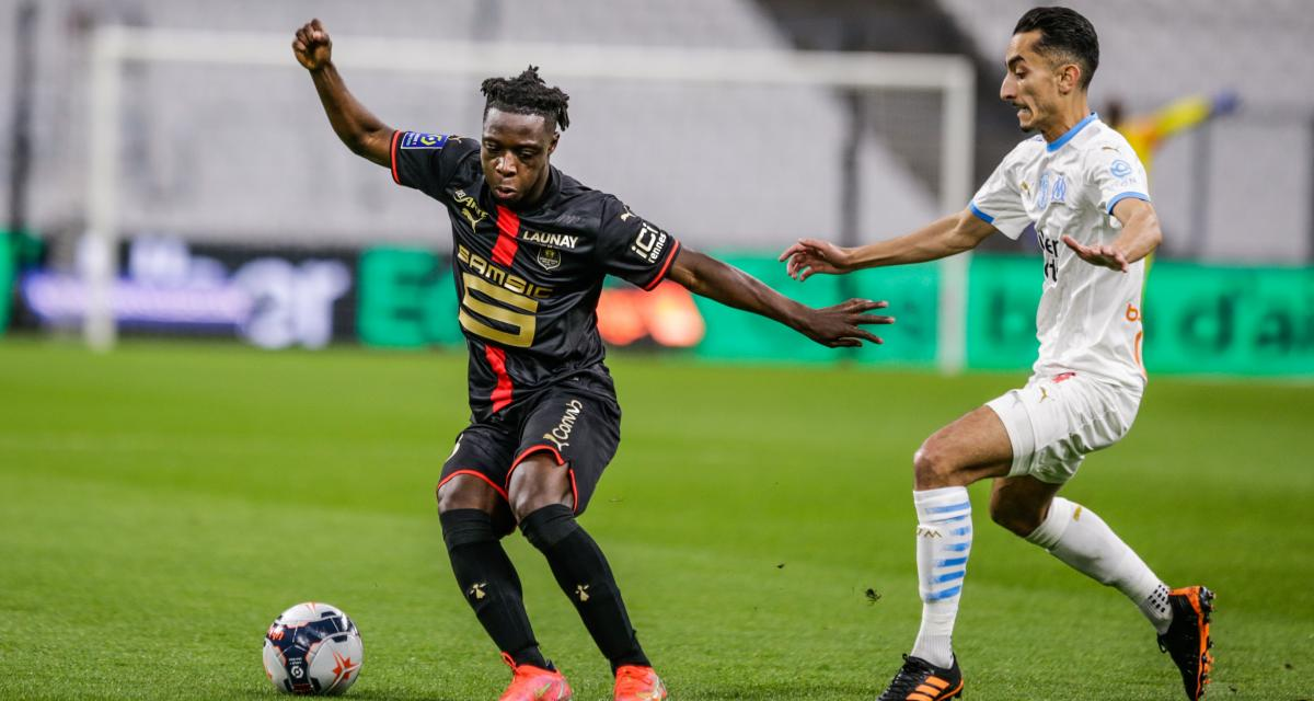 Résultat Ligue 1 : OM 0-0 Stade Rennais (mi-temps)
