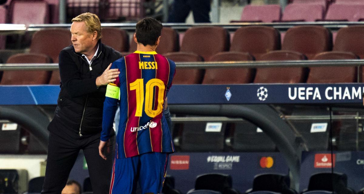 FC Barcelone – Mercato: Koeman se sert du PSG pour convaincre Messi de rester