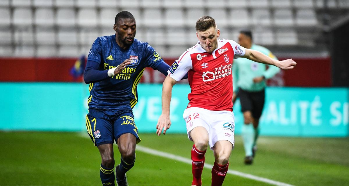 Résultat Ligue 1 : Reims 1-0 OL (mi-temps)