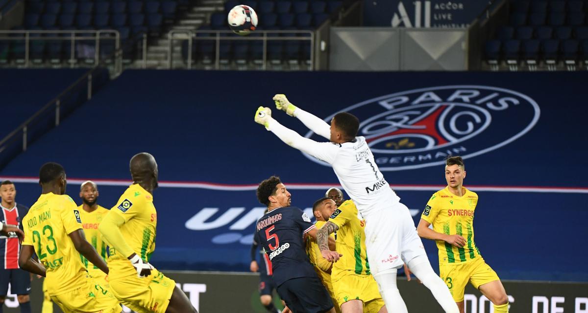Résultat Ligue 1 : PSG 1 - 2 FC Nantes (terminé)