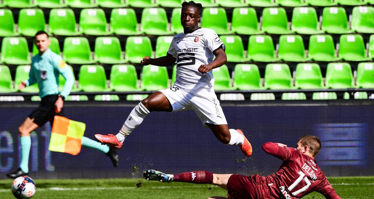 Résultat Ligue 1 : FC Metz 0 - 2 Stade Rennais (mi-temps)