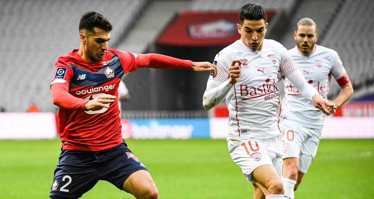 Résultat Ligue 1 : LOSC 1-2 Nîmes (mi-temps)