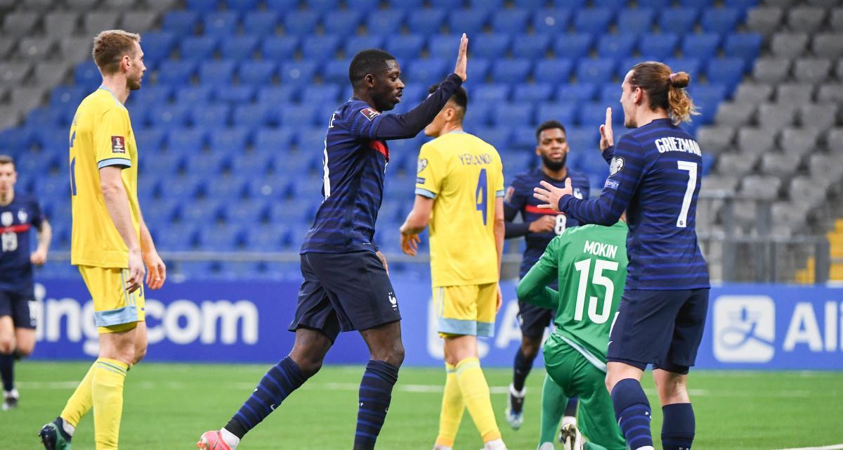 Résultats qualif. Coupe du Monde: Kazakhstan 0-2 France (mi-temps)