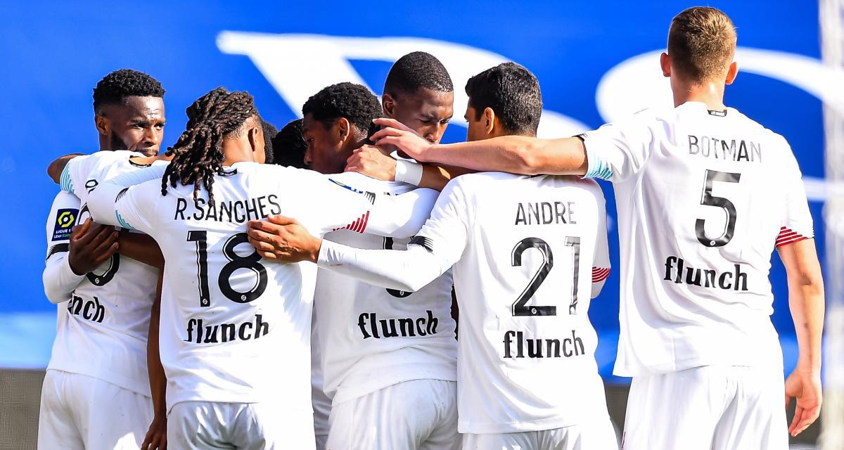Résultat Ligue 1 : PSG 0 - 1 Lille (mi-temps)