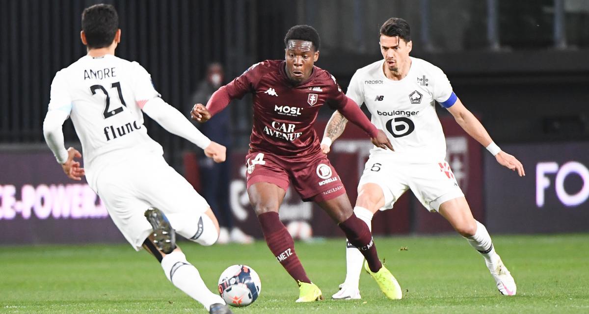 Résultat Ligue 1 : Metz 0-0 LOSC (mi-temps)
