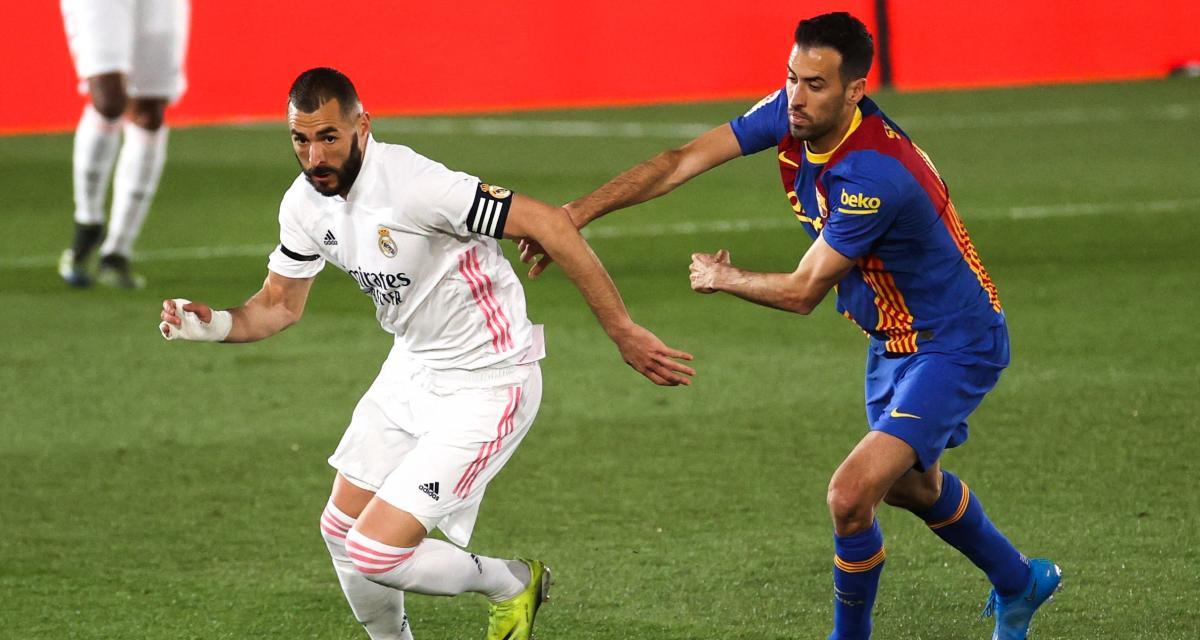 Real Madrid - FC Barcelone (2-0) : portés par Benzema, les Madrilènes mènent à la pause
