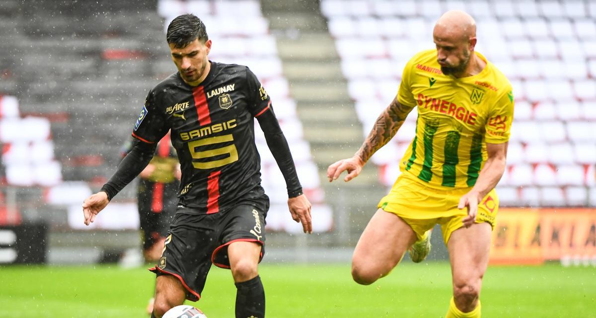 Résultat Ligue 1 : Stade Rennais 0-0 FC Nantes (mi-temps)