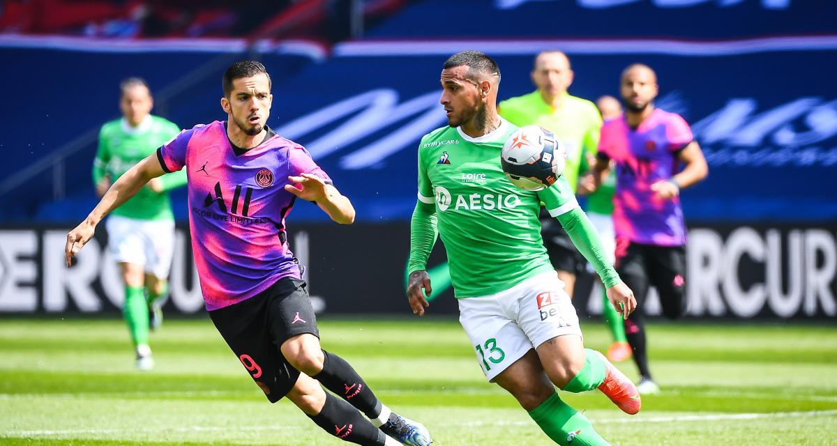 Résultat Ligue 1 : un petit PSG a du mal face aux Verts (0-0, MT)