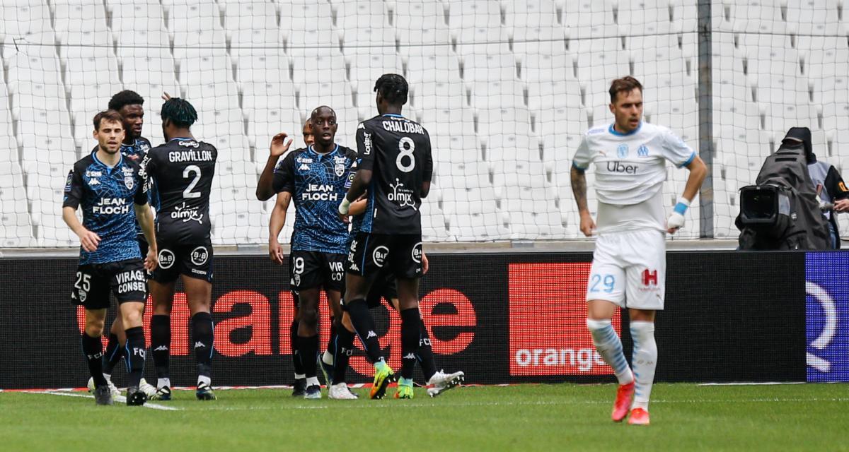 Résultat Ligue 1 : OM 0-1 FC Lorient (mi-temps)