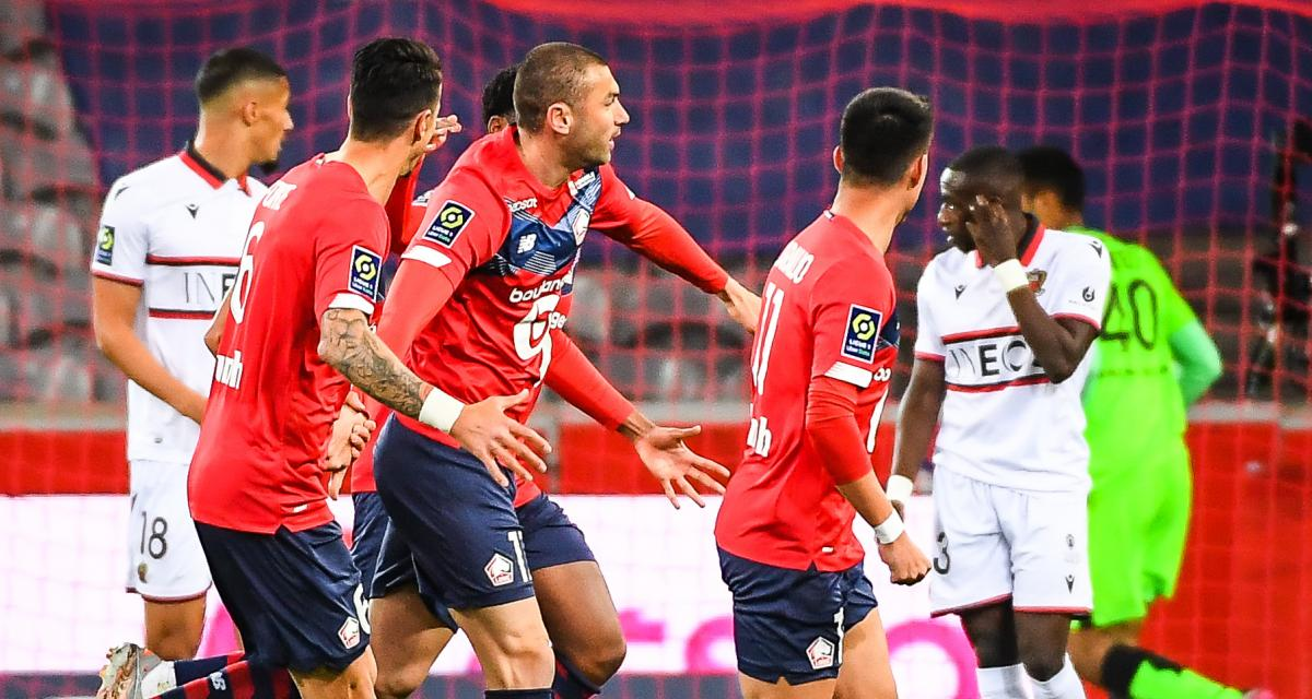 Résultat Ligue 1 : LOSC 1-0 OGC Nice (mi-temps)