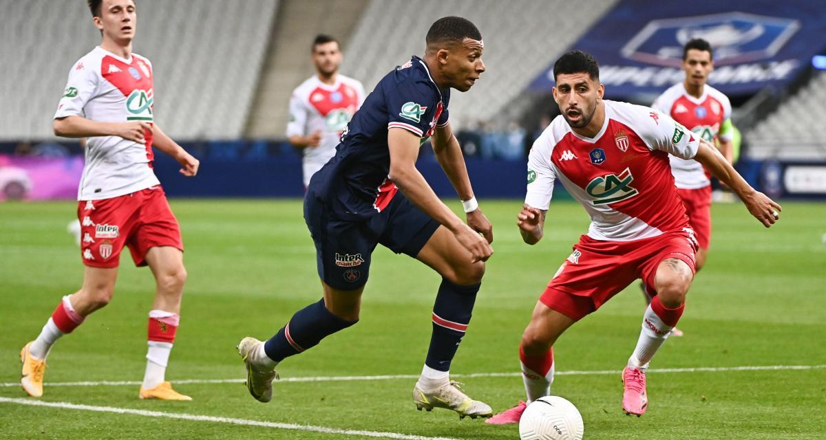 Résultat Coupe de France : AS Monaco 0-1 PSG (mi-temps)