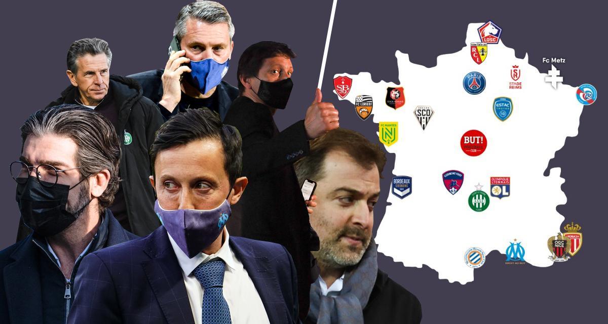 PSG, OM, OL, ASSE, FC Nantes, RC Lens: la carte de France des besoins au Mercato