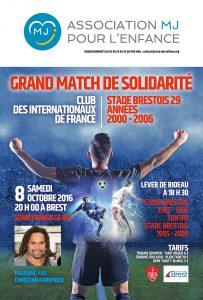 Foot – Solidarité : Affiche exceptionnelle le 8 octobre à Brest