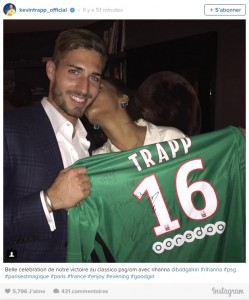 PSG : Kevin Trapp questionné sur sa relation avec Rihanna