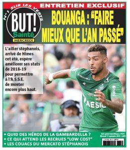 Dans l'entretien accordé à But Saint-Etienne, à paraître ce mercredi, Denis Bouanga évoque notamment ses débuts à l'ASSE et son but contre Brest (1-1) qu'il a dédié à sa maman, qui a tendance à lui porter chance. Extrait.