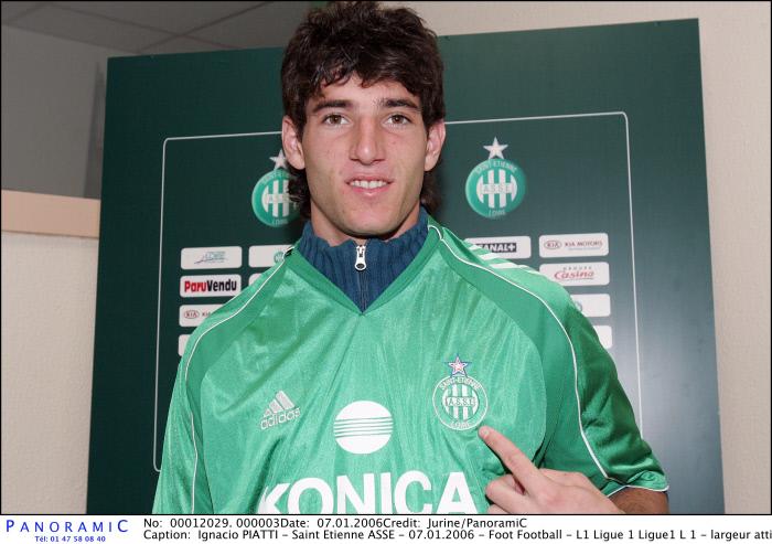 Ignacio PIATTI - Saint Etienne ASSE - 07.01.2006 - Foot Football - L1 Ligue 1 Ligue1 L 1 - largeur attitude pose portrait recrue recrues transfert transferts